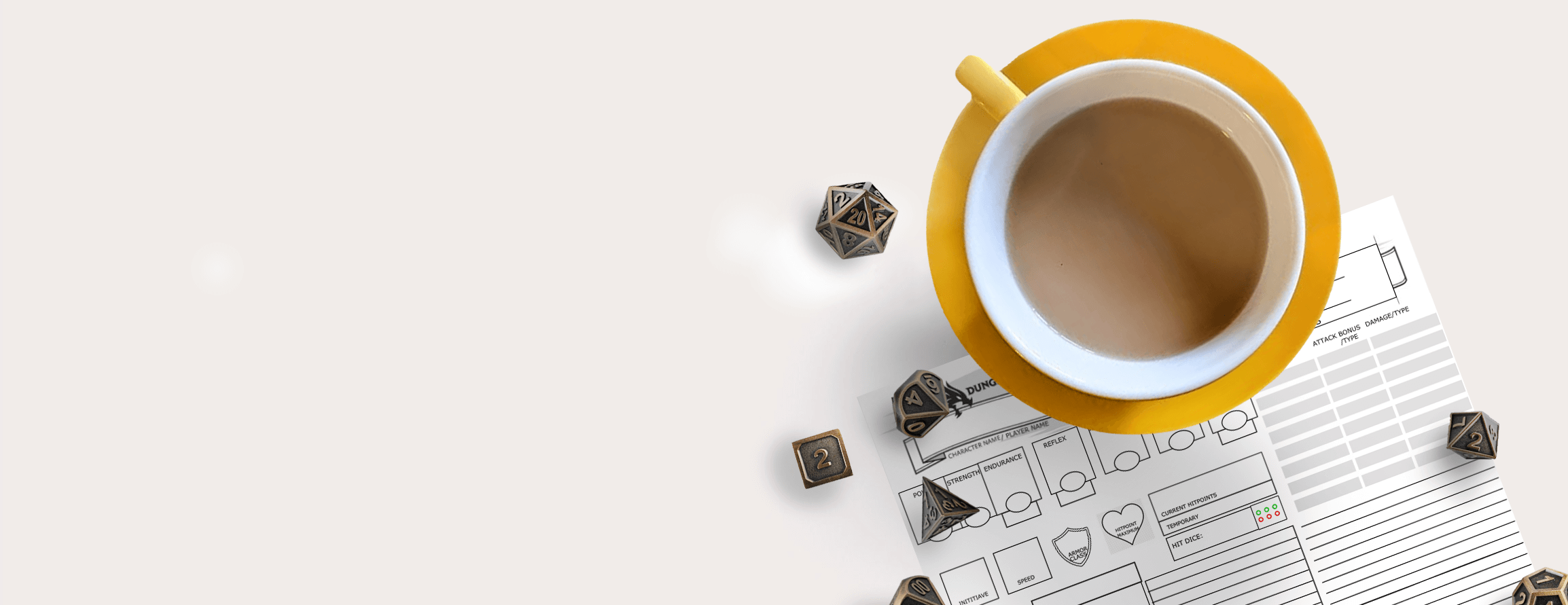 Dungeons and Dragons Dice and Tea